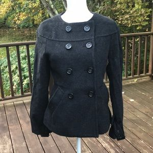 NWT! BCBGMaxazaria small dark heather wool jacket